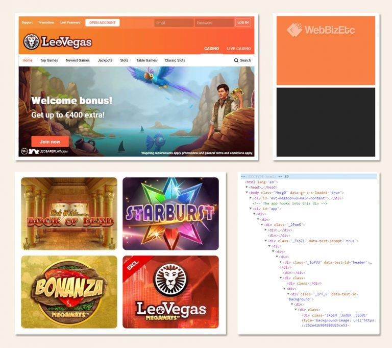 leo vegas website design